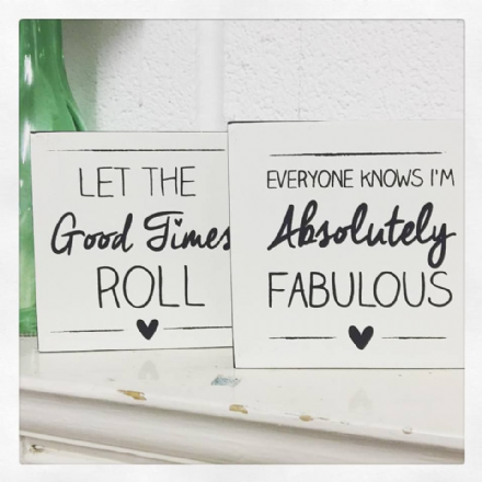 Enjoy The Little Things & I Am The Exception Chunky Freestanding Block Sign
